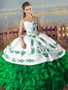 Enchanting Embroidery and Ruffles Lace Up Quinceanera Dresses