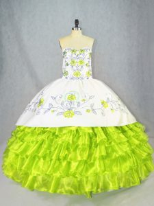 Popular Sweetheart Sleeveless Lace Up Quinceanera Dress Organza