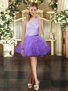 Fabulous Sleeveless Ruffles Zipper Homecoming Dress