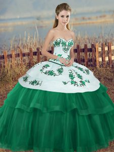 Sweet Floor Length Green Quinceanera Dress Sweetheart Sleeveless Lace Up