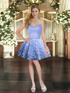 Sleeveless Ruffled Layers Lace Up Prom Dress