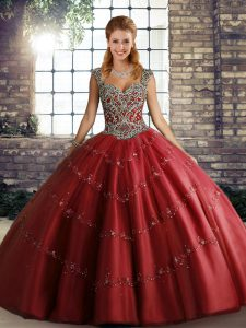 Low Price Sleeveless Lace Up Floor Length Beading and Appliques Sweet 16 Quinceanera Dress