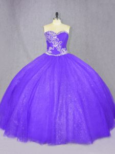 Hot Selling Tulle Sleeveless Floor Length Quinceanera Gown and Beading