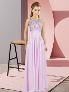 Cheap Lilac Sleeveless Beading Backless Pageant Dress for Teens