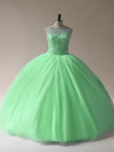 Sleeveless Beading Floor Length Ball Gown Prom Dress