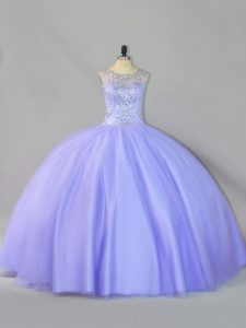 Fabulous Tulle Sleeveless Floor Length Sweet 16 Dresses and Sequins