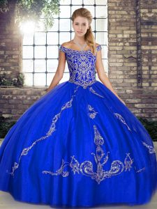 Ideal Sleeveless Lace Up Floor Length Beading and Embroidery Vestidos de Quinceanera