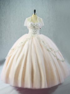 Captivating Sleeveless Beading Lace Up Quinceanera Gowns