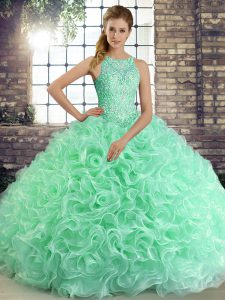 Sexy Sleeveless Lace Up Floor Length Beading Vestidos de Quinceanera
