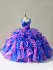 Modern Floor Length Ball Gowns Sleeveless Multi-color Quinceanera Gowns Zipper