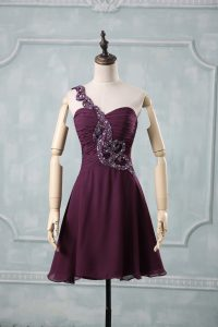 Customized Chiffon Sleeveless Dress for Prom and Beading and Ruching