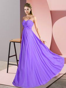 Latest Sleeveless Ruching Lace Up Prom Dresses