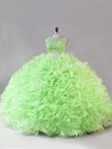 Custom Design Floor Length Sweet 16 Quinceanera Dress Scoop Sleeveless Zipper