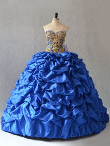 Sleeveless Lace Up Beading and Pick Ups 15 Quinceanera Dress