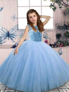 Sleeveless Beading Lace Up Pageant Dress Toddler