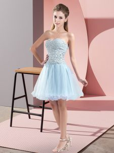 Vintage Tulle Sleeveless Mini Length Evening Dress and Beading