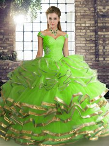 New Arrival Floor Length Ball Gowns Sleeveless Quinceanera Gowns Lace Up