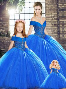 Organza Sleeveless Quinceanera Dresses Brush Train and Beading