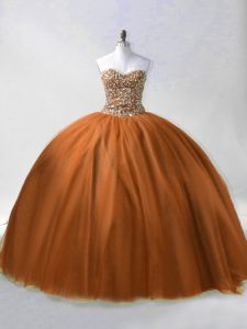 Latest Sleeveless Lace Up Floor Length Beading Quinceanera Gown