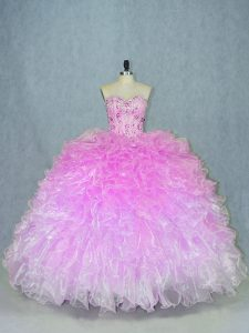 Top Selling Multi-color Quinceanera Dresses Sweet 16 and Quinceanera with Beading and Ruffles Sweetheart Sleeveless Lace Up