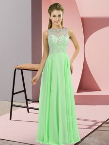 High-neck Neckline Beading Pageant Dress for Womens Sleeveless Zipper