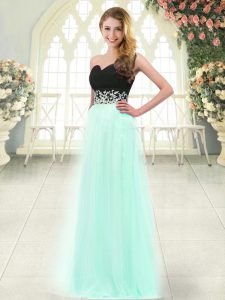 Sexy Apple Green Prom Party Dress Prom and Party with Appliques Sweetheart Sleeveless Zipper