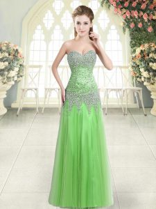 Beauteous Floor Length Column/Sheath Sleeveless Prom Party Dress Zipper