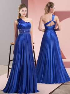 Designer Sleeveless Beading and Ruching Backless Homecoming Dress