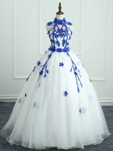 Sleeveless Appliques Zipper Sweet 16 Dress