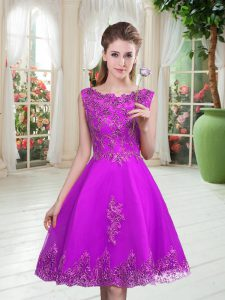 New Style Sleeveless Beading and Appliques Lace Up Homecoming Dress