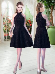 Sweet Black Sleeveless Zipper Prom Dresses for Prom and Party