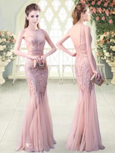 New Arrival Sleeveless Backless Floor Length Sequins Prom Party Dress