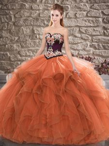 Sleeveless Beading and Embroidery Lace Up Quinceanera Gown