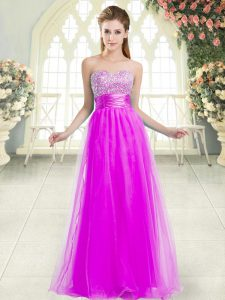 Sweetheart Sleeveless Lace Up Homecoming Dress Purple Tulle