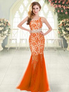 Sleeveless Zipper Floor Length Beading and Lace
