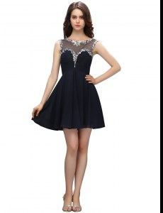 Admirable Black Bateau Neckline Beading Celebrity Dresses Sleeveless Zipper