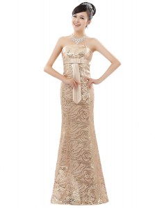 Elegant Sleeveless Zipper Floor Length Appliques