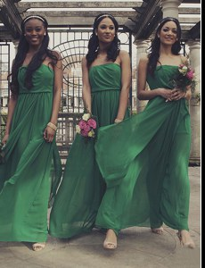 Green Strapless Zipper Ruching Pageant Dresses Sleeveless