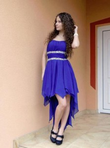 Glorious Chiffon Sleeveless High Low Dress for Prom and Beading