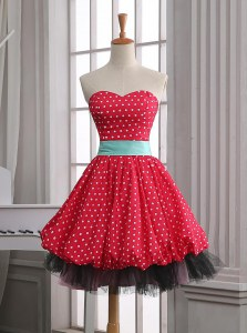 Red Prom Gown Party and For with Lace and Pleated Sweetheart Sleeveless Zipper