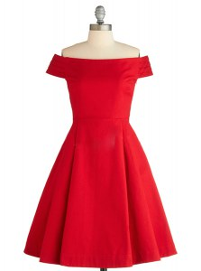 Exceptional Red Zipper Off The Shoulder Ruching Prom Dress Satin Sleeveless