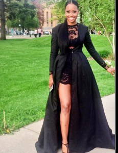 Scoop Lace Prom Dresses Black Zipper Long Sleeves Floor Length