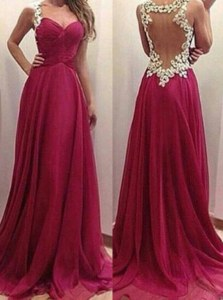 Vintage Burgundy Prom Dress Prom and Party and For with Appliques Sweetheart Sleeveless Zipper