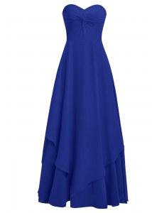 Chiffon Sleeveless Floor Length Prom Dress and Ruffles