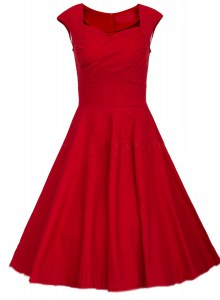 Exceptional Square Red Zipper Prom Dress Ruching Cap Sleeves Knee Length