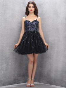 Tulle Sleeveless Mini Length Club Wear and Sequins