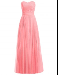 Sleeveless Zipper Floor Length Ruffles Prom Dress