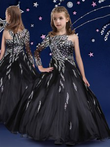 Modern Black Party Dress for Girls Quinceanera and Wedding Party and For with Beading and Ruffles Asymmetric Sleeveless Zipper