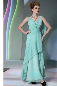 Sleeveless Sequins and Ruching Side Zipper Prom Dresses