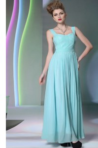 Top Selling Sleeveless Zipper Floor Length Beading Dress for Prom